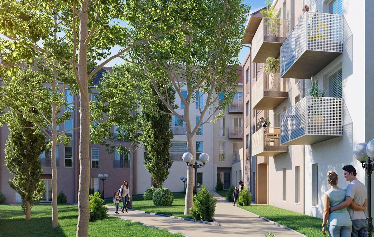 Perspective du programme Aquarelle à Sarcelles Village (95)